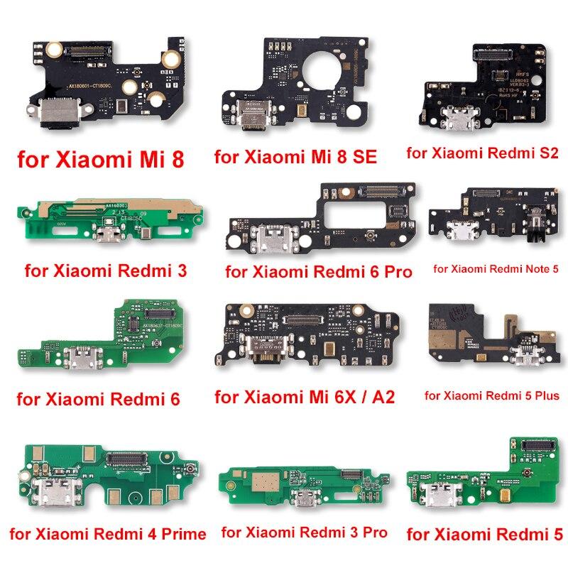 New For Xiaomi Mi 8\Mi 8 SE\Redmi 3\S2\6 Pro\Note 5\6\Mi 6X\A2\5 Plus\3 Pro\4 Prime\ 5\Redmi 5 Charging Port Board Repair Parts