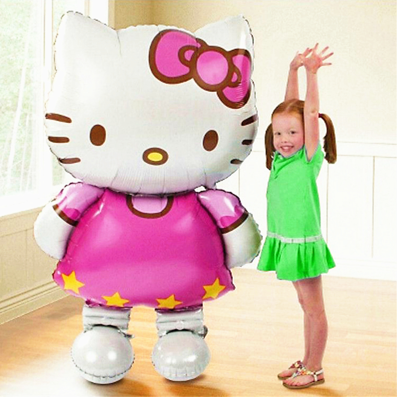 115*70cm Large Size Hello Kitty Cat Foil Balloon Wedding Birthday Party Decoration Inflatable Air Balloon Toy