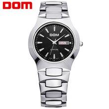 Часы мужчины Бизнес Платье люксовый бренд Топ Часы DOM кварцевые мужские наручные часы для дайвинга Моды Случайные Спорт relogio masculino W-624