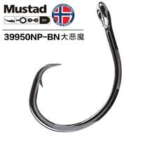 10 Pack Mustad 39950 gancho de pesca de acero con alto contenido de carbono gancho de púas forma tamaño 4/0 6/0 8/0 10/0 12/0 accesorio de pesca Big Shark Fish