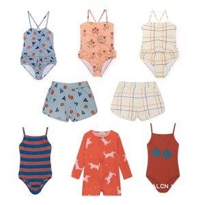 Купальный костюм bobo, Цельный купальник для маленьких девочек и мальчиков, Детский комплект бикини, 2019