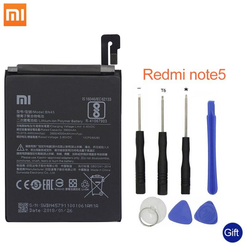 Xiao mi BN45 TÉLÉPHONE Batterie Pour Xiao Mi mi note2 rouge mi note 5 Note5 d'origine Mobile téléphone Batteries + outils