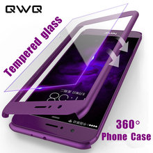 360 Protective Phone Cases For Huawei P10 Lite P20 Lite Pro P Smart Back Full Cover For honor 8 9 Lite Case With Tempered Glass(China)
