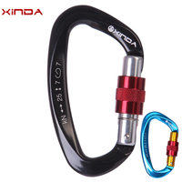 Wholesale 15 Pcs XINDA 25KN Professional Safety Master D Buckle Climbing Lock Carabiner Rock Climbing Buckle Equipment