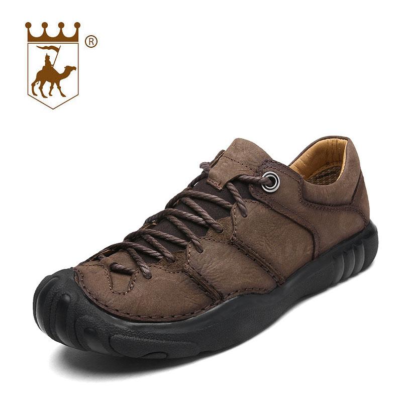 BACKCAMEL äkta läder utomhus man casual skor manliga skor andas - Herrskor - Foto 4