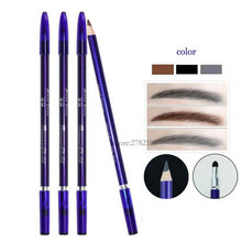 wood waterproof tattoo eyebrow design pencil for permanent makeup fashion eye cosmetics eyebrow liner tools eye brow pencil with(China)