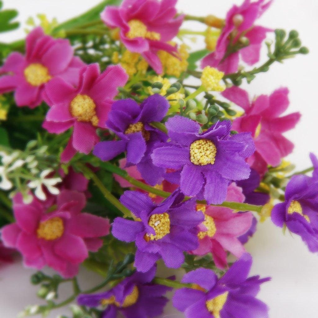 DHDL! 1 Bouquet de Cineraire Faux Bouquet de Fleurs Artificielles ...