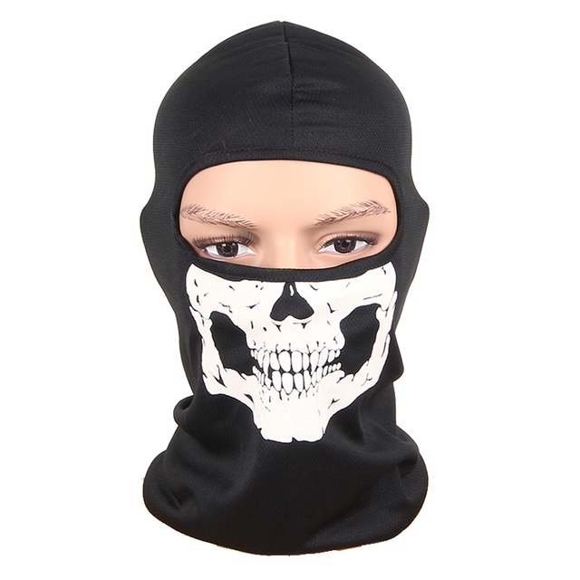Cycling Ski Mask Balaclava Skull Outdoor Sports Bike Bicycle Skateboard Motorcycle Ghost Riding Hat Protect Full Face Mask