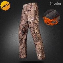 Высокое качество на открытом воздухе TAD зимние толстые флисовые прямые карго армейские тактические мягкие оболочки Sharkskin водонепроницаемые камуфляжные брюки