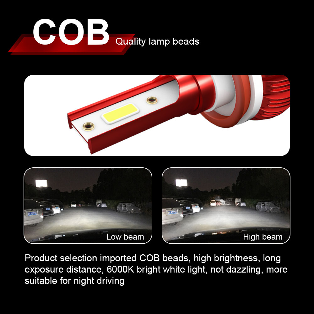 Image 3 - Mini Car Headlight H4 LED H7 H11 H8 HB4 H1 HB3 H9 9006 9005 Auto Bulbs 72W 8000LM Car Styling led automotivo Headlamp Kit-in Car Headlight Bulbs(LED) from Automobiles & Motorcycles
