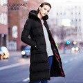 Утолщение пальто средней длины вниз женский 2017 вниз пальто тонкий более-колено ультра долгая зима верхняя одежда