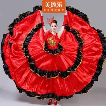 374ce8396 La señora y las mujeres de salón de baile moderno, etapa de desgaste ropa  vestido falda de Flamenco traje de la danza
