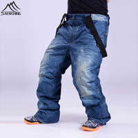 FREE SHIPPING Clearance Stock Sale Ski Trousers Unique Casual Skiing Jeans Waterproof Warm Snowboarding Breathable Ski