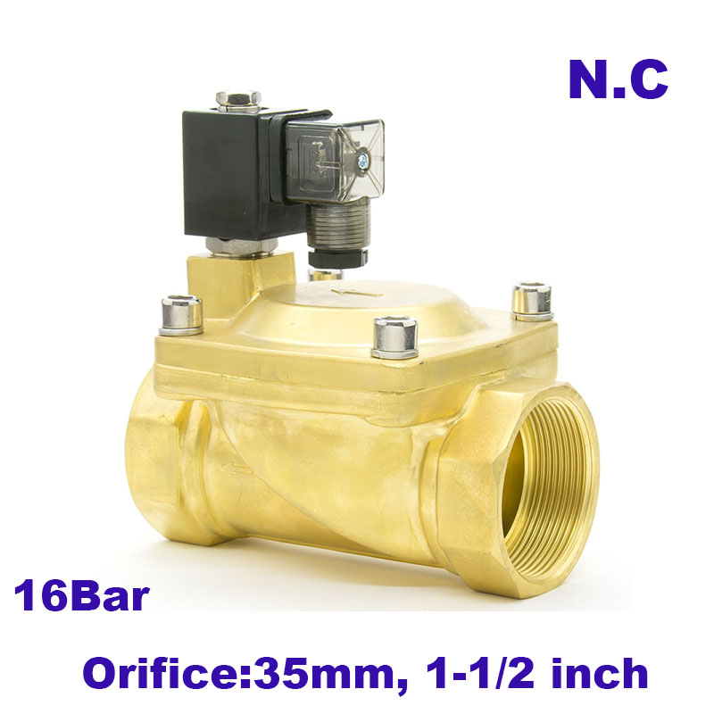 GOGO 2 way Pilot Diaphragm Brass 220v ac 24vdc water pneumatic normally closed electric Solenoid Valve
