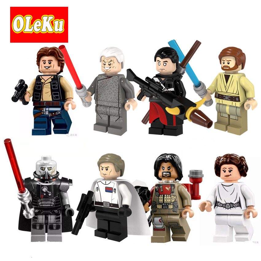 Star Wars Figures Sith Lord Orson Krennic Han Solo Obi Wan Baez Princess Leia Rogue One