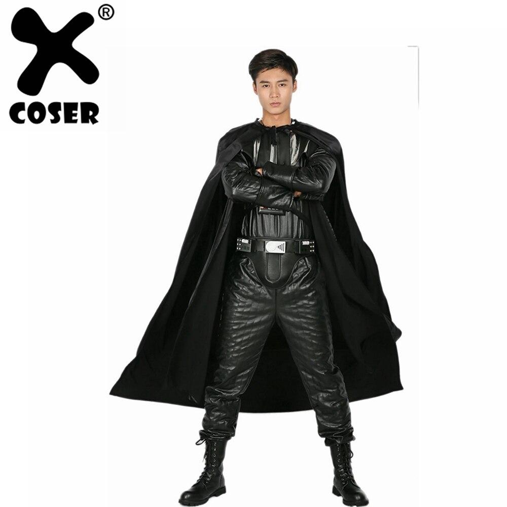XCOSER Дарт Вейдер костюм взрослый полный наряд для Хэллоуина вечерние Косплей Вечеринка шоу костюм для мужчин Взрослый