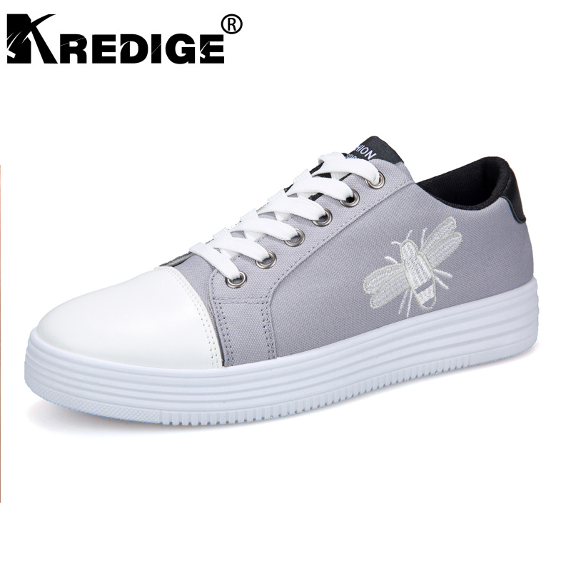 KREDIGE Height Increasing Soles Breathable Men Shoes Denim Fabric Hard-Wearing Shoes Men Spring Multicolor Lace-Up Shoes 39-44