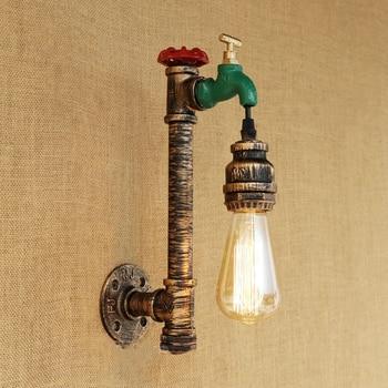 E27 Industrieel Kraan-Wandlamp 1