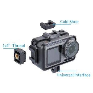 Image 4 - PGYTECH אוסמו פעולה DJI אוסמו פעולה ספורט מצלמה מקרה כיסוי מקרה פגז חצובה מיני Selfie מקל מיקרופון LED אור Accessorie