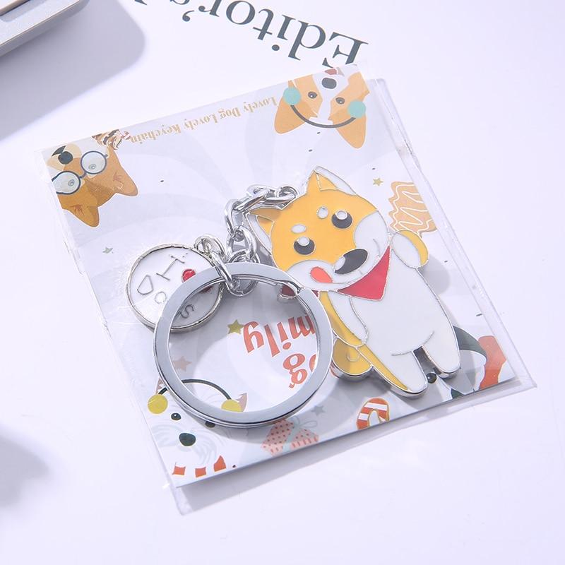 Fransız Bulldog Kolye Anahtar Zincirleri Kadın Erkek Kızlar Için - Kostüm mücevherat - Fotoğraf 6