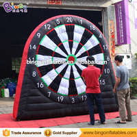 Free Delivery Inflatable Dart Game type inflatable soccer football darts boards with sticky balls for toys sports