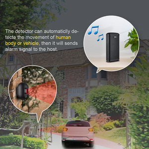 Image 3 - KERUI DW9 Driveway ALARM ความปลอดภัยไร้สายกันน้ำ PIR Motion Sensor Detector Driveway โรงรถกันขโมยระบบ