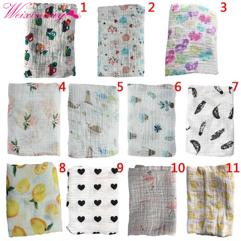 Baby Swaddle Muslin Blankets Swaddle Cotton newborn Soft Baby Bath Towel Swaddle Blankets MultiFunctions Towel