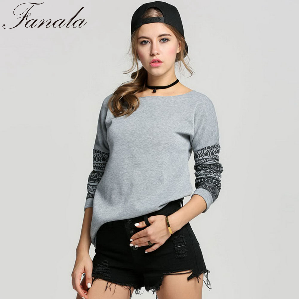 stylish women autumn t shirt tee round neck long sleeve