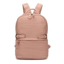 Новые модные брендовые женские рюкзак Премиум Кожа Тканые Сумка Женская дорожная рюкзак твердой рукой ткань сумки опрятный школьные сумки