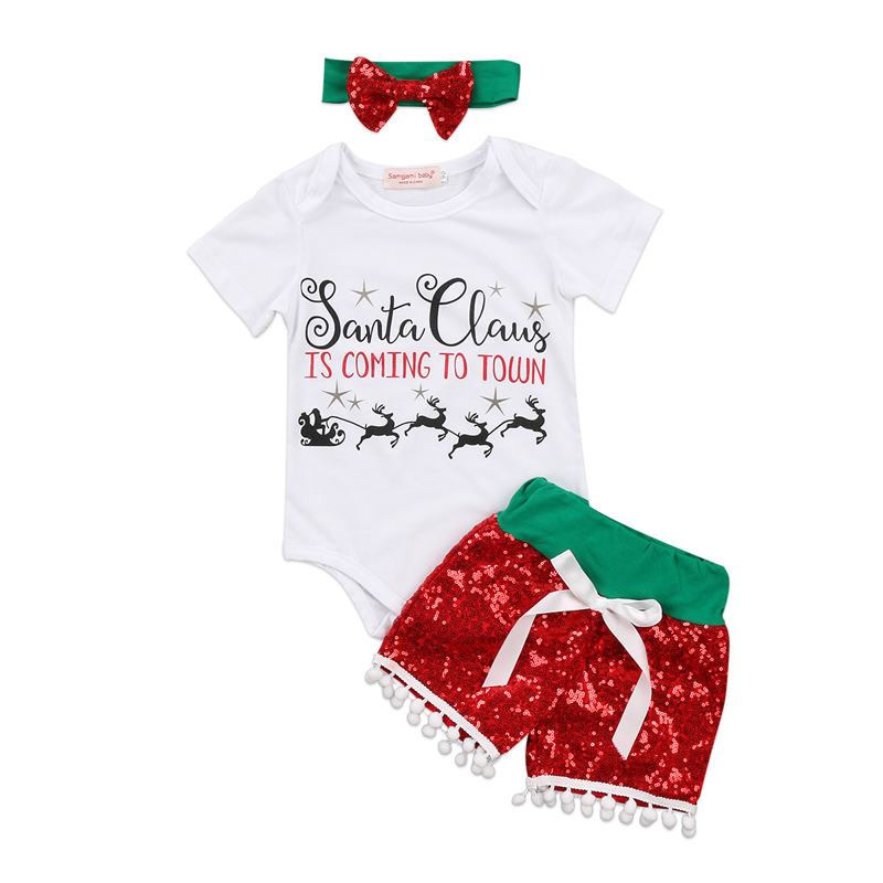 Newborn Infant Baby Girl Clothes Kids Romper Jumpsuit Leggings Clothes Outfits