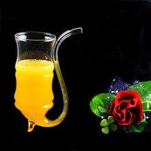 1 шт., новинка,, 300 мл бокал для вина, кружка для питья, соломенная трубка, виски, стеклянные чашки JY 1184
