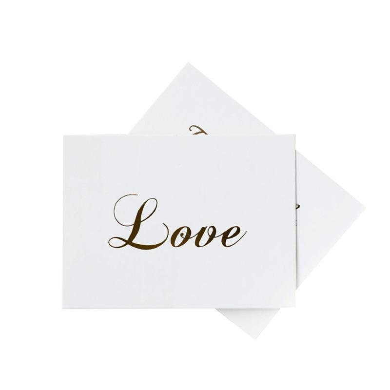 50 pcs lote obrigado amor branco bronzeamento presente decoracao mini cartao festa convite cartoes atacado