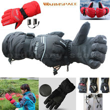 Rechargeable Battery Bicycle Cycling Motorcycle Outdoor Work Glove Electric Heated Hands Winter Warmer Ski Windproof Gloves