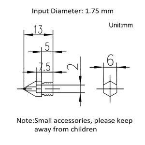 Image 3 - 3D Yazıcı Memeleri MK8 Ekstruder Memesi Ekstruder Baskı Kafası için 1.75mm 3D Yazıcı Anet A8 Makerbot MK8 Creality CR 10 ender 3