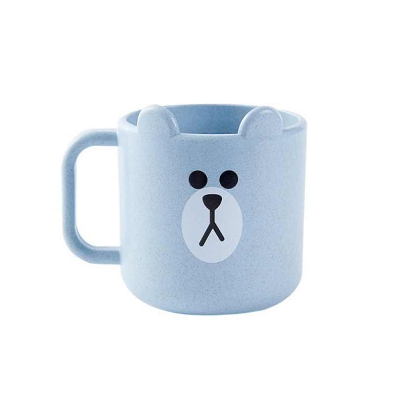 Copas para bebés de 250ml, 1 Uds., cepillo de agua potable, copa de lavado de dientes, taza de leche infantil para bebés con mango, taza para desayuno, bebida