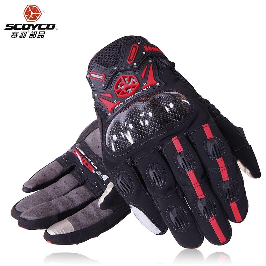 Scoyco mc20 touch screen motociclo guanti dito pieno guanti da moto in fibra di carbonio moto guantes luvas protezione