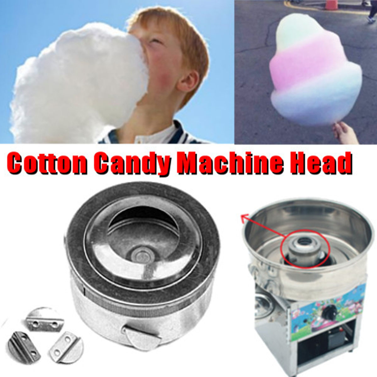 Cotton Candy Machine Head Machine Sugar Extractor Sugar Head Cotton Candy  Machine Accessories