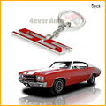 (5) Chrome Finish Super Sport SS Key Chain Fob Ring Keychain For Chevrolet Chevy