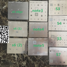 10 шт./лот BGA-Reball трафарет для Samsung S3 S4 S5 S6Edge s6(1) S6(2) s7 Note3 note4 note5