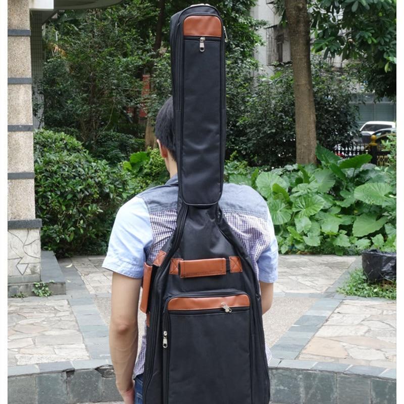 Bass Case Bag with Funda PU Backpack Soft Holder Pocket Straps Holder Cotton Padded Gig Bag Case Waterproof Carry Gig Cloth