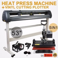 "5in1 Heat Press Transfer Kit 53"" Vinyl Cutting Plotter Cutter Printer Digital|printer digital|printer cut|printer cutter -"