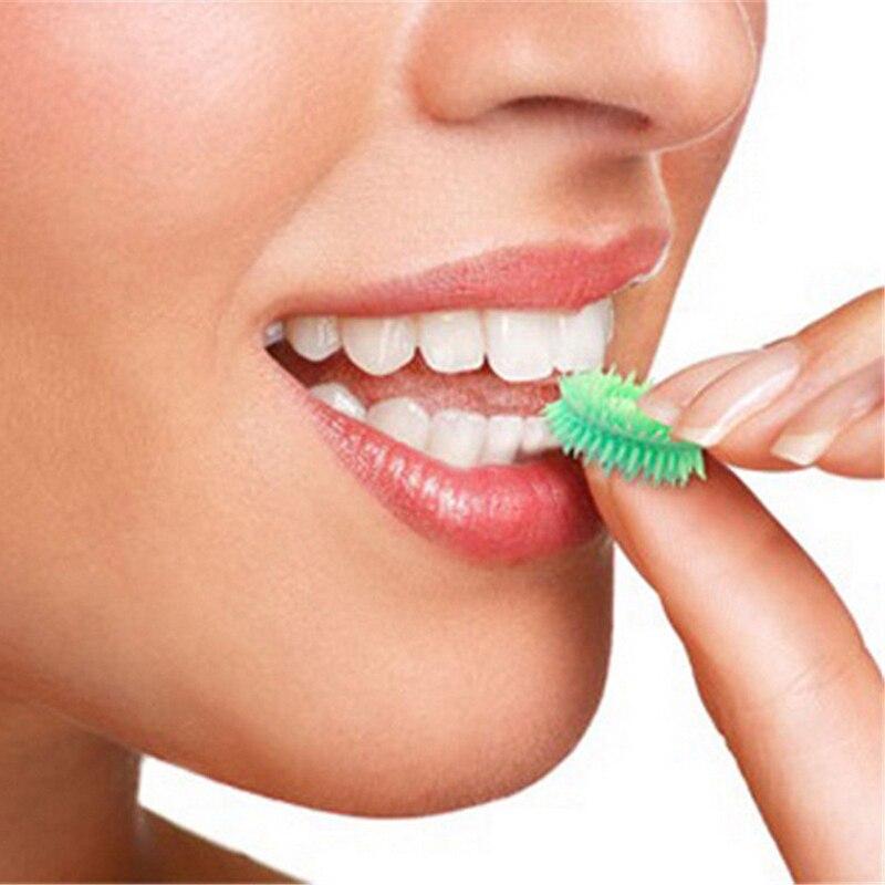6 шт./упак. мятным вкусом Портативный одноразовые мини нести жевательной Тип Зубная щётка экономии времени нет воды или зубная паста для пут...