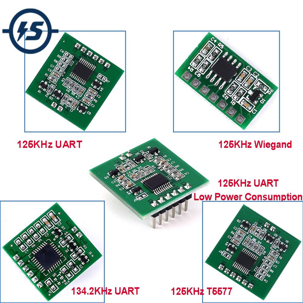 RFID Wireless Module 125KHz/134.2KHZ T5577 Card Reader Writer UART Wiegand Contactless Controller W/Antenna