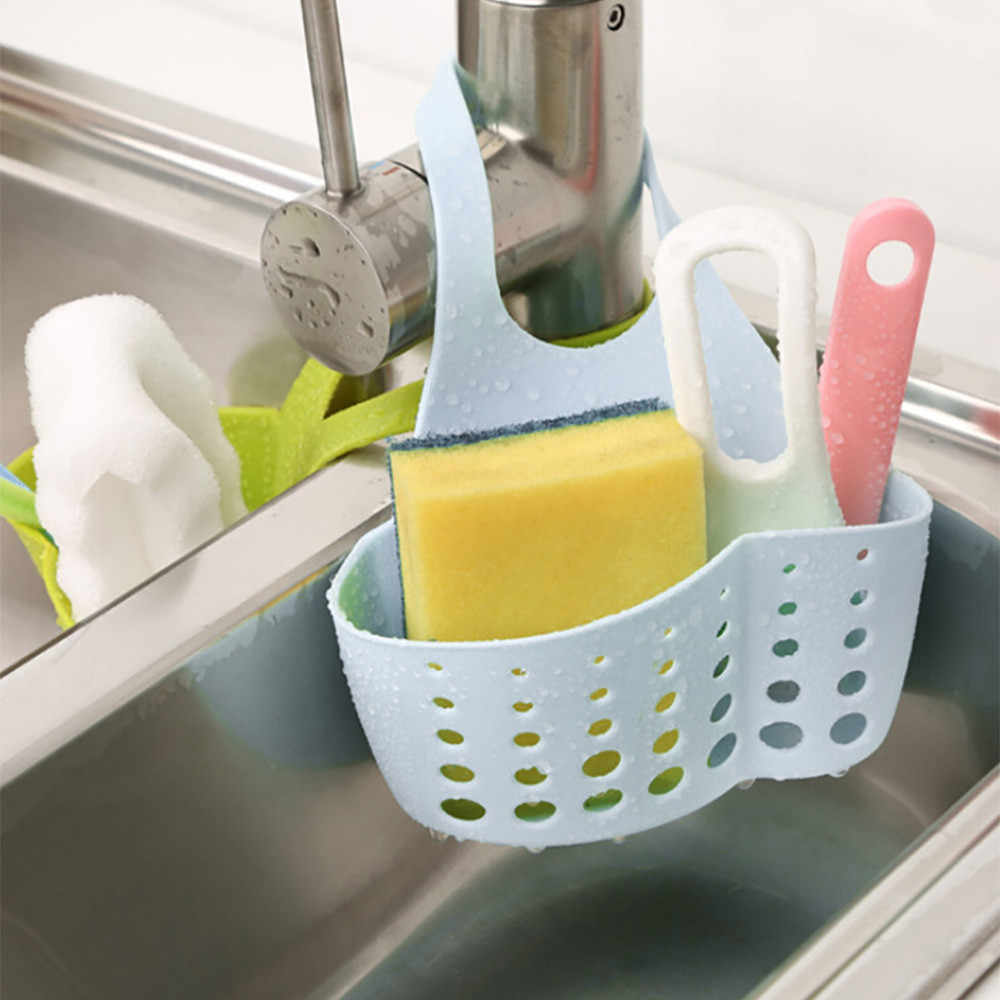 Portable Home Kitchen Hanging Bag Basket Bath Storage Tools Sink Holder Kitchen Storage Bathroom Organizer Kitchen Accessories