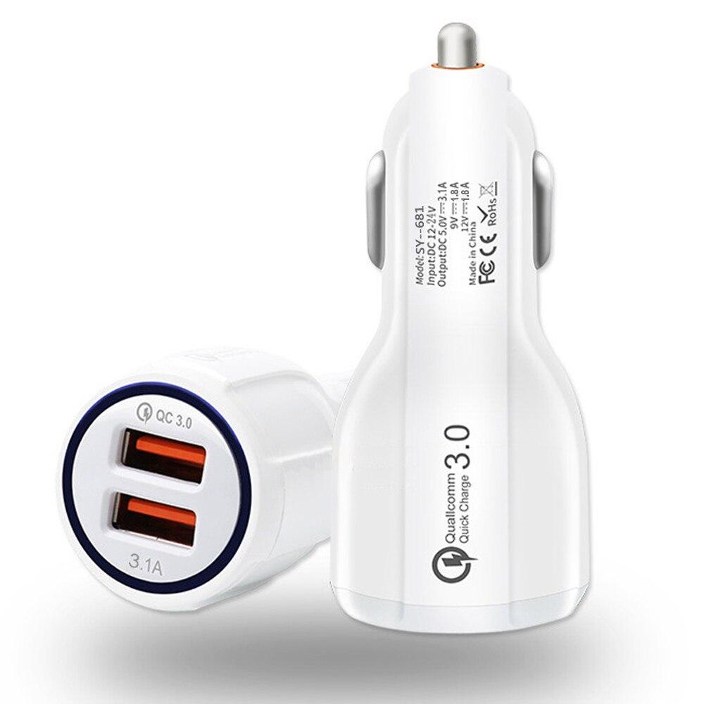 2 USB Snelle Autolader QC3.0 Voor Yu Yunique 2 YU5011 YU 5011/Yureka Note Mobiles Telefoon EU Plug USB Charger + USB Data Kabel