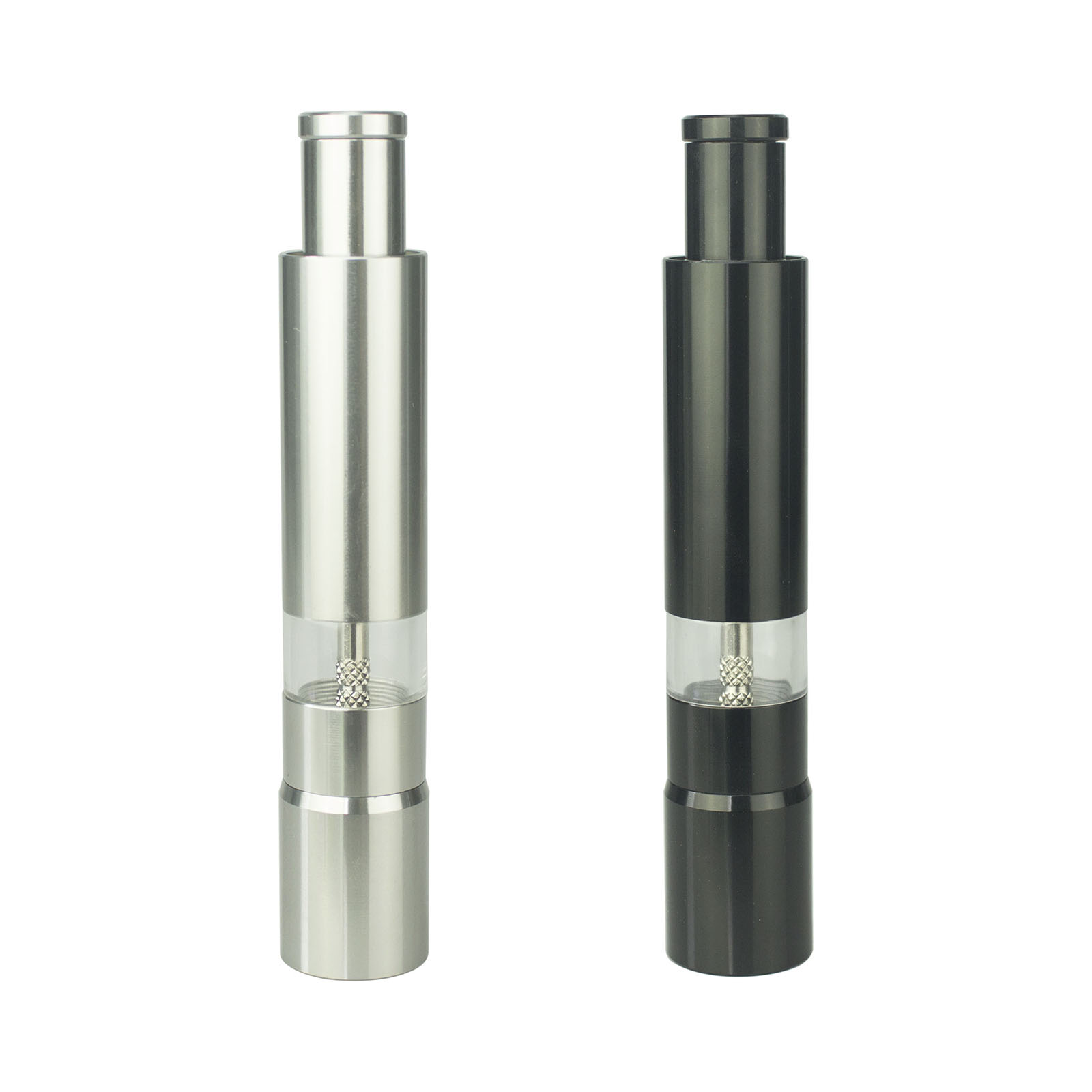 Thumb Push Pepper Mill,Customization Portable Salt Grinder,Event Logo Advertised Gift,Promotional Giveaway(China)