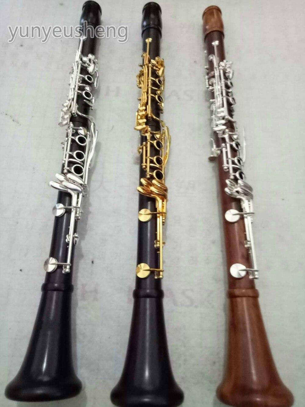 Профессиональный Bb кларнет деревянный корпус посеребренный ключ итальянские колодки новый чехол