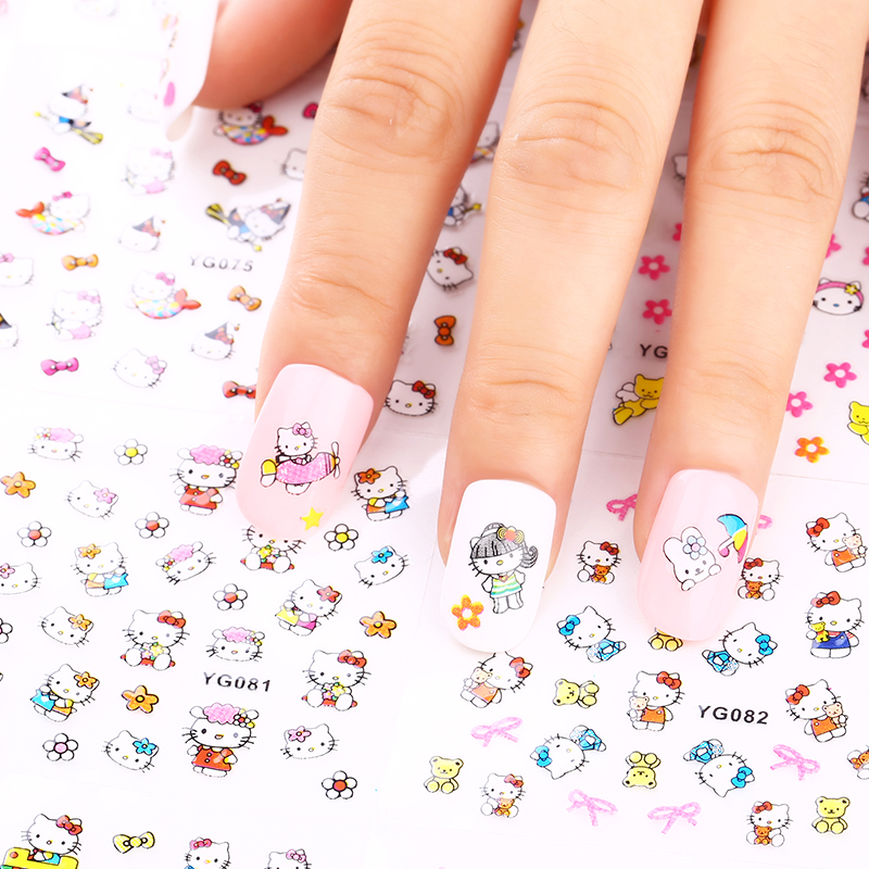 24 Manicure Designs Colorful Hello Kitty Nail Stickers, Nails DIY Beauty  Decorations Tools For 3D Nail Art JH156 Nail Art Tools  In Stickers U0026  Decals From ...