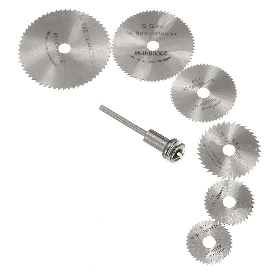 JFBL Kit HSS Circular Drive Saw Blade Circular Teeth + Mandrel for Dremel