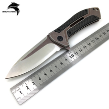 ZT0801 Tactical Folding Knife D2 Steel + Carbon Fiber Handle Bearing Hunting Outdoor Multi Tools Combat Survival Pocket Knives